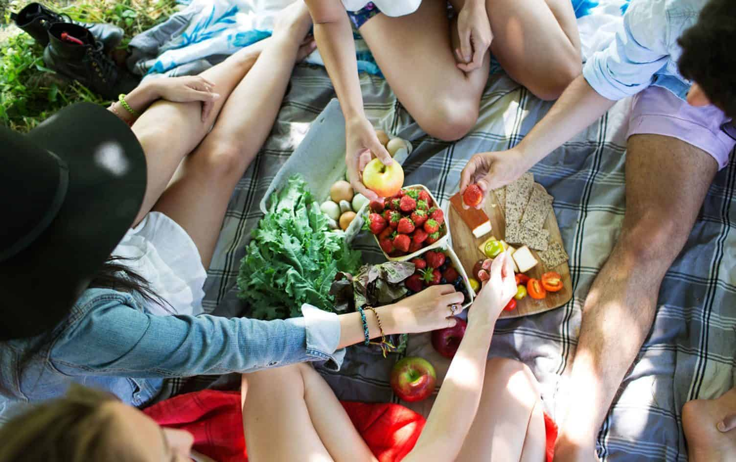 Picnic With Healthy Food