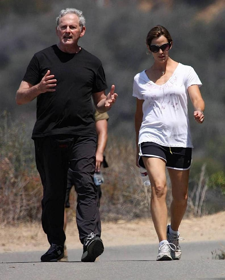 Jennifer Garner and her buddy for a hike