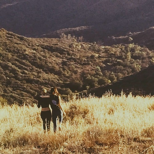 Kendall Jenner and Gigi Hadid hiking