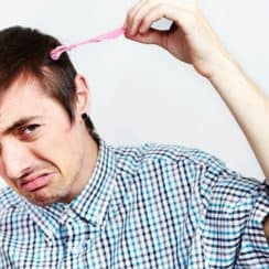 Chewing gum in hair