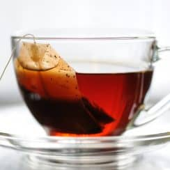 tea bag in cup