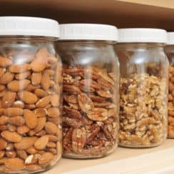 nuts in jars