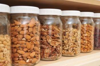 nuts in jars