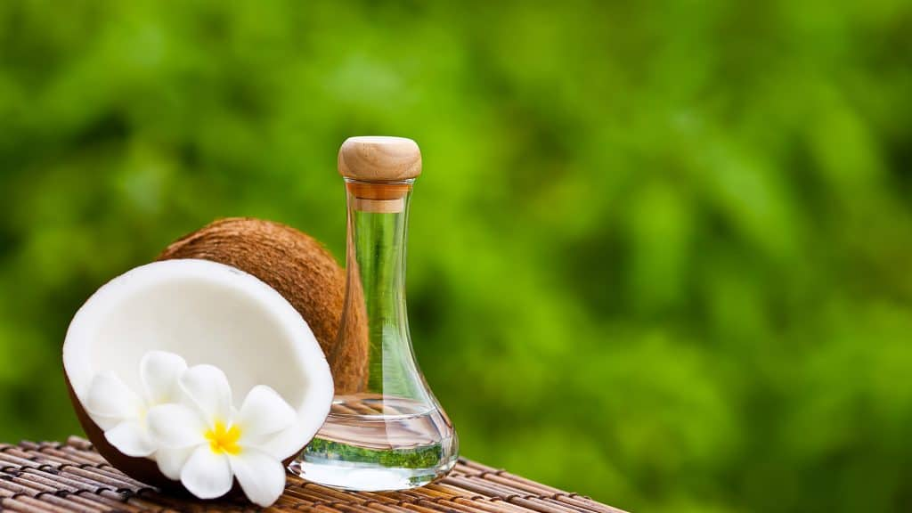 coconut oil with flower fragrance