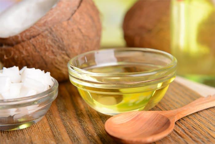 coconut oil in a glass