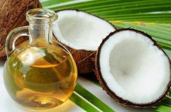 coconut with extracted oil