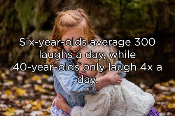 kids hugging and laughing