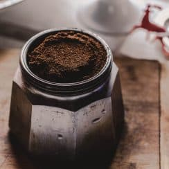 coffee powder in a jar