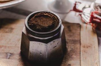 coffee powder in a jar