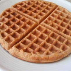 a plate of waffle