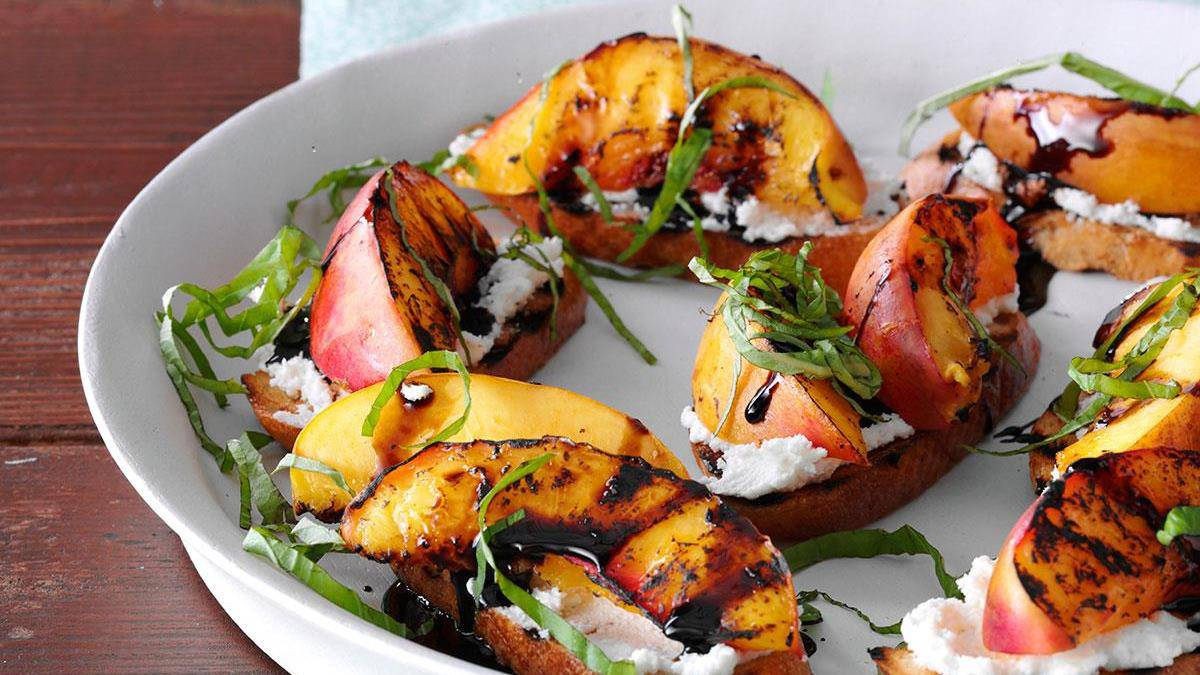 Honey Nectarine Bruschetta