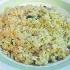 a plate of parmesan quinoa