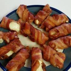 Bacon Wrapped Mozzarella Sticks
