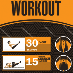 total abs workout infographic