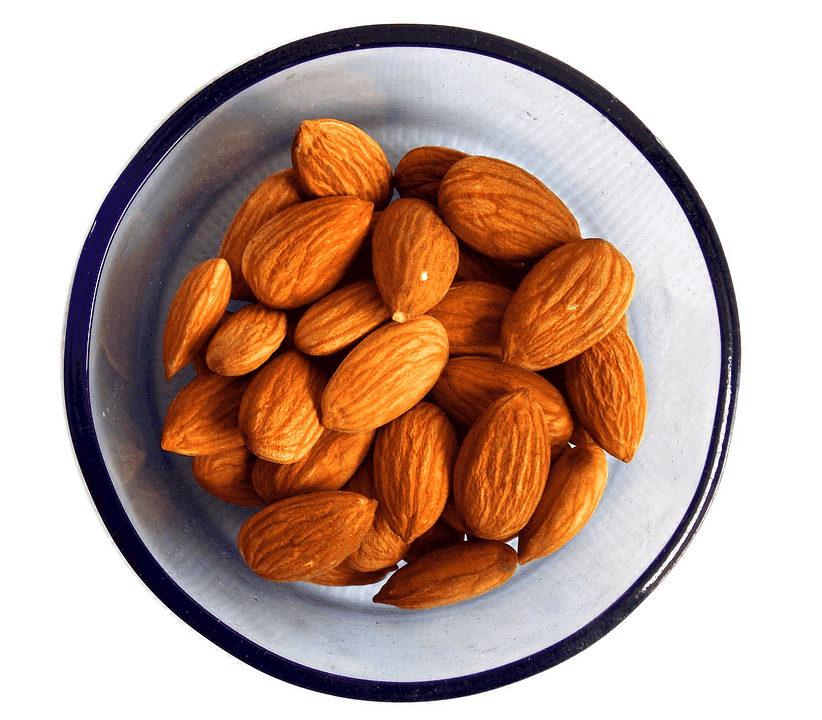 a bowl of almond nuts