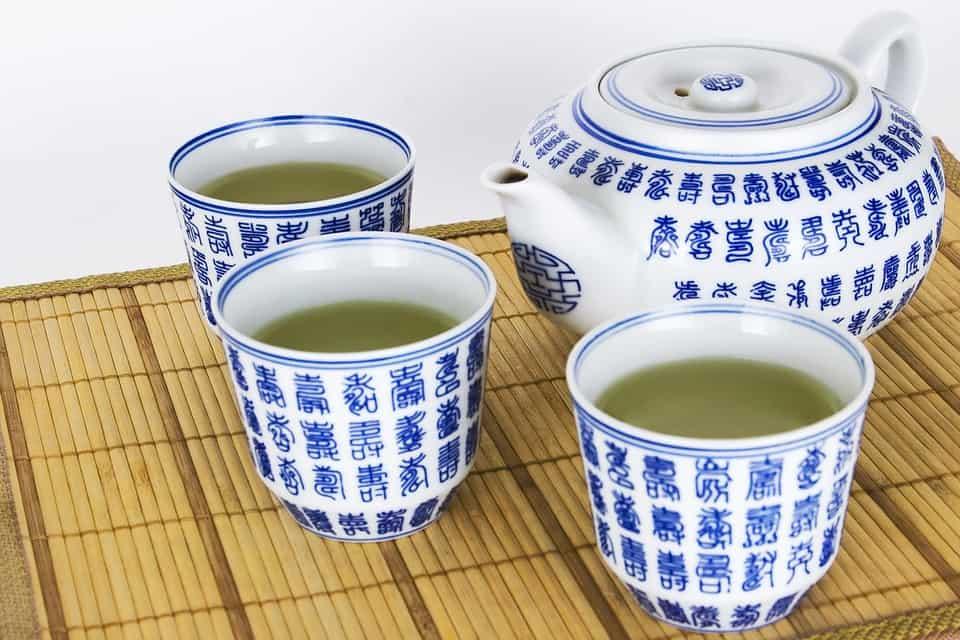 3 cup servings of green tea